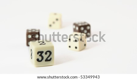 playing dice with numbers #53349943