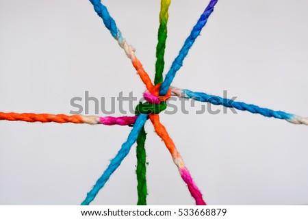 Ropes isolated on white background #533668879