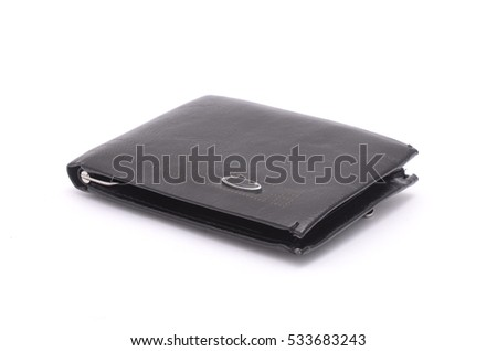 men's wallet isolated on white #533683243