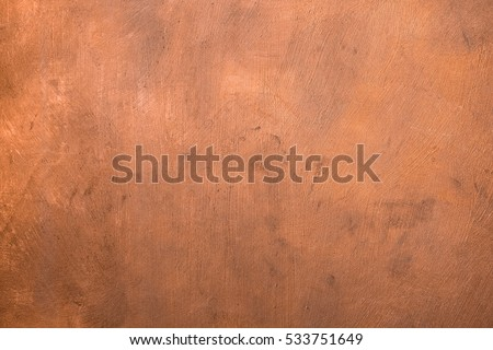 Copper metallic painted surface background #533751649