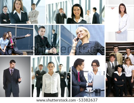 Business collage made of many business pictures #53382637