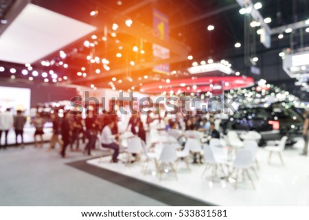 abstract blurred event with people for background Royalty-Free Stock Photo #533831581