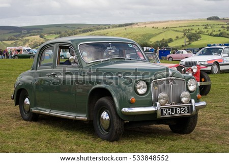 A classic Rover 90 at a vintage show in west Wales, UK during the summer of 2011. #533848552