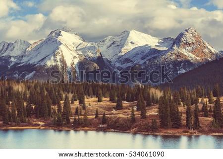 Mountain Landscape in Colorado Rocky Mountains, Colorado, United States. Royalty-Free Stock Photo #534061090