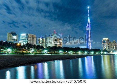 Fukuoka city with Seaside Momochi of Japan #534075070