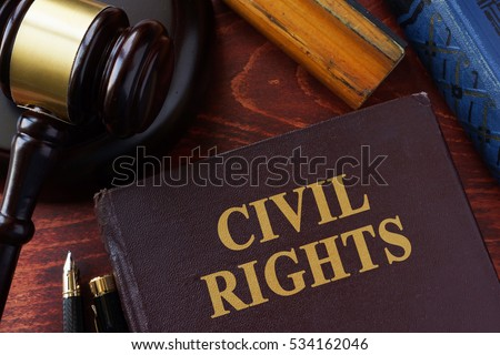 Civil Rights title on a book and gavel. #534162046