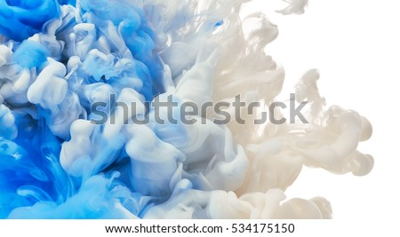 Paint splash. Abstract background Royalty-Free Stock Photo #534175150