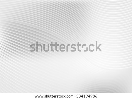 Abstract grey white waves and lines pattern. Vector futuristic template background Royalty-Free Stock Photo #534194986