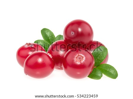 Cranberry isolated on white background #534223459