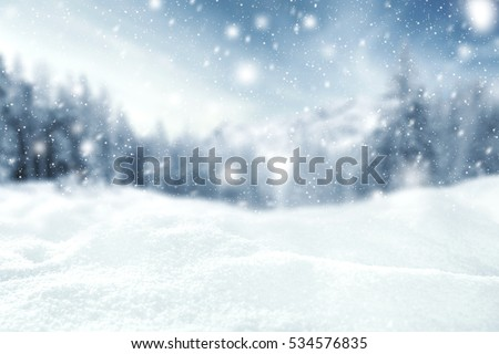 winter time and snow space