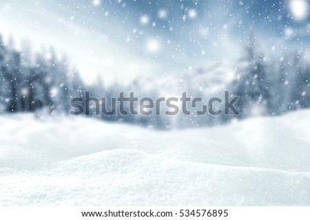winter time and snow space  #534576895