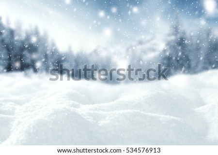 winter time and snow space  #534576913
