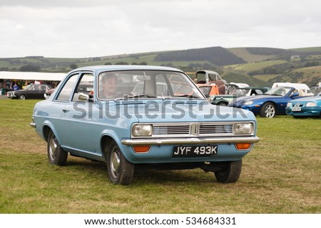 A Vauxhall Viva at a classic car show in west Wales, UK during the summer of 2011. #534684331