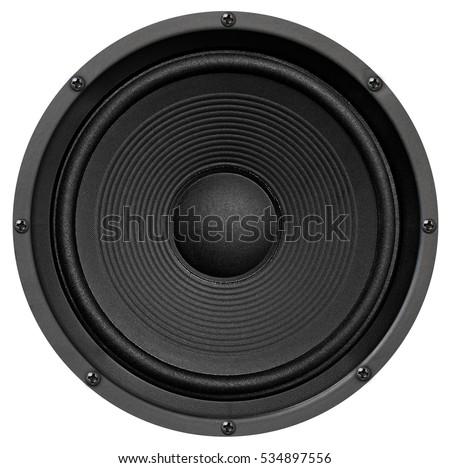 Audio equipment, speaker on white background Royalty-Free Stock Photo #534897556