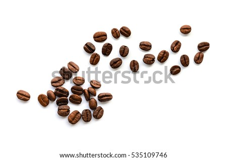 Coffee beans. Isolated on a white background. #535109746