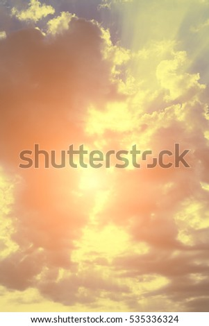 Beautiful sky with clouds and sunlight #535336324