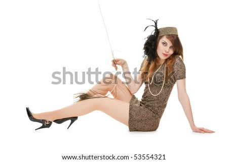 Studio portrait of attractive young woman #53554321