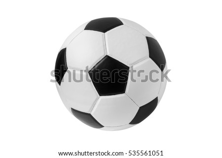 soccer ball on isolated.  Royalty-Free Stock Photo #535561051