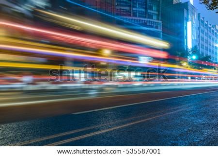 Traffic road in downtown of Hong Kong,China. #535587001