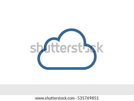 Cloud icon Flat.