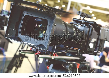 Video camera while filming #536010502