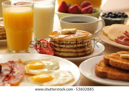 Breakfast foods #53602885