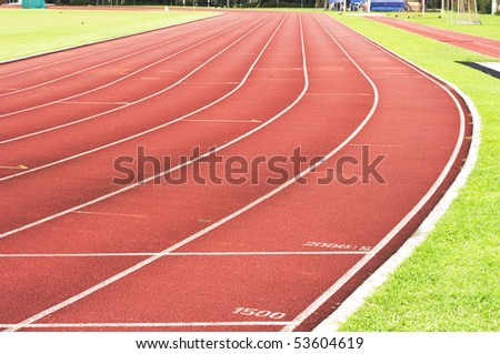 running track for race, for concept or background. #53604619