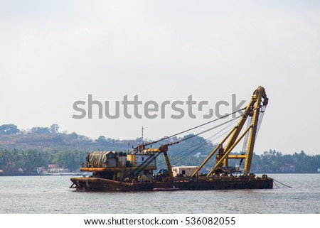 Barge on Indian River  #536082055