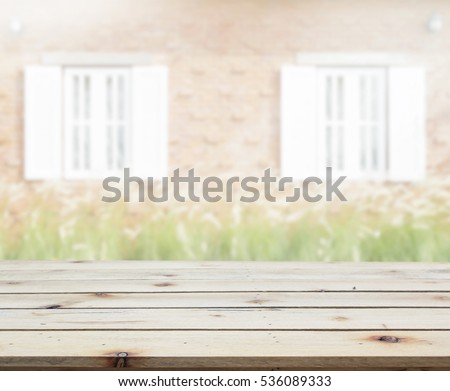 Table Top And Blur Building Of The Background #536089333