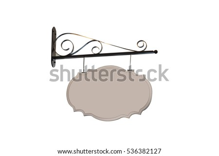 Vintage Shop signs isolated on white background with clipping path