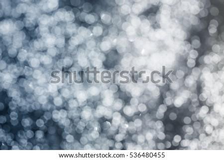 Sparkling, blinking blue bokeh background - Christmas lights #536480455