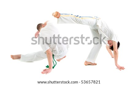 Contact Sport .Capoeira.over white background #53657821