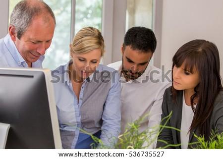 Business people brainstorming #536735527