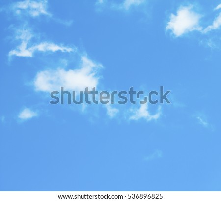 Blue sky with clouds background #536896825