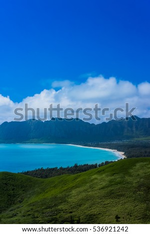 Kaiwa Ridge Trail, Kailua in Oahu Island #536921242
