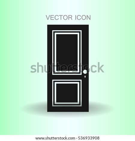 closed door vector illustration #536933908