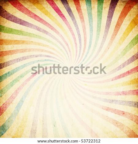 Retro colorful sunburst background.