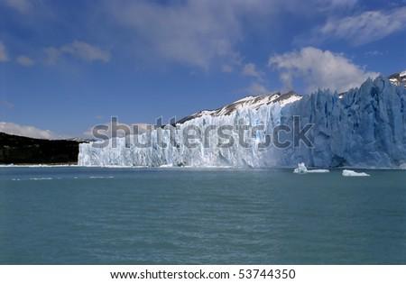 Blue skies of glacier Perito Moreno #53744350