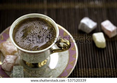 Turkish coffee and Turkish delight #537520339