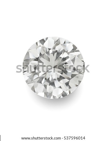 top view of loose brilliant round diamonds on white background with shadow high quality #537596014