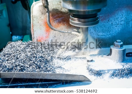 A CNC machine milling heads in metal industry #538124692
