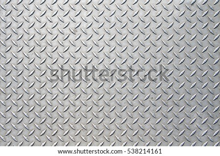 Metal floor plate with diamond pattern. Royalty-Free Stock Photo #538214161