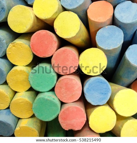 Chalks in variety of colors for background texture. #538215490
