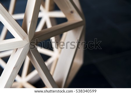 Wooden Polygon structure Background geometric picture