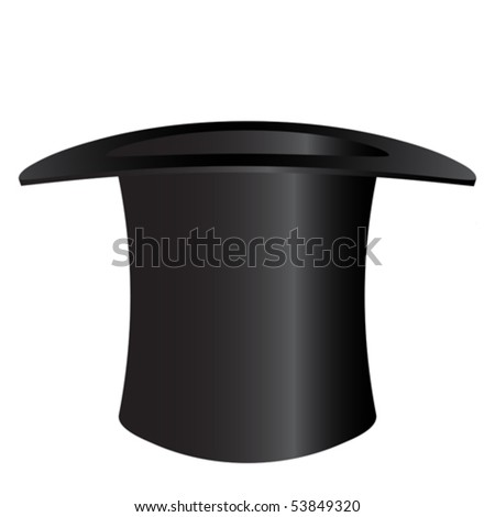 Top hat isolated on white - an illustration for your design project. #53849320