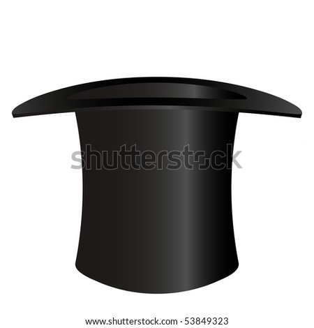 Top hat isolated on white - an illustration for your design project. #53849323