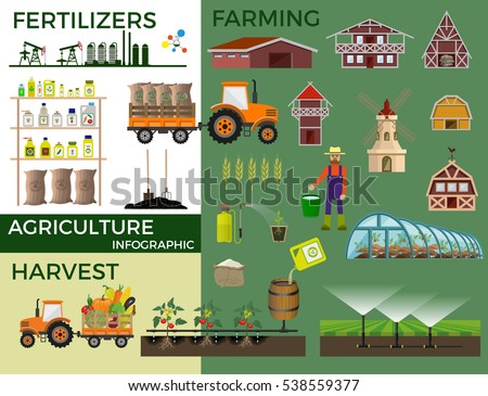 Vector illustrations for agricultural and fertilizer. Infographic #538559377