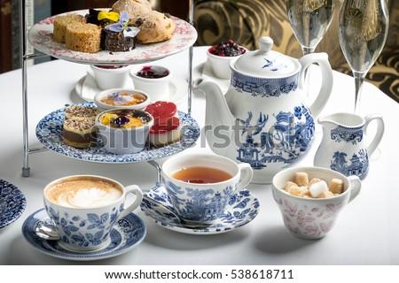afternoon tea sandwich sweet #538618711