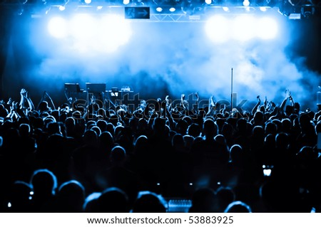 Cheering crowd at concert #53883925