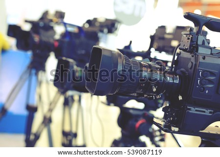 Video camera while filming #539087119